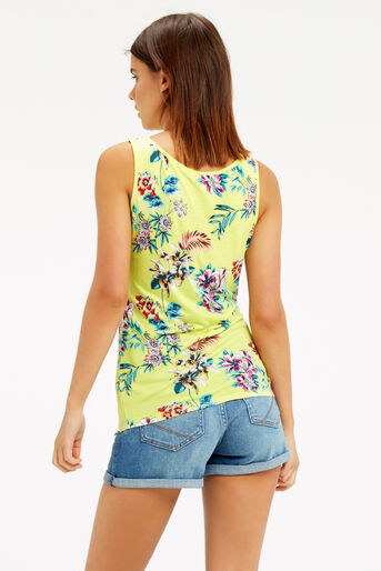 Oasis, Malay Tropical Print Vest Mid Yellow 3