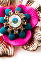 Oasis, FLOWER BROOCH Gold 2