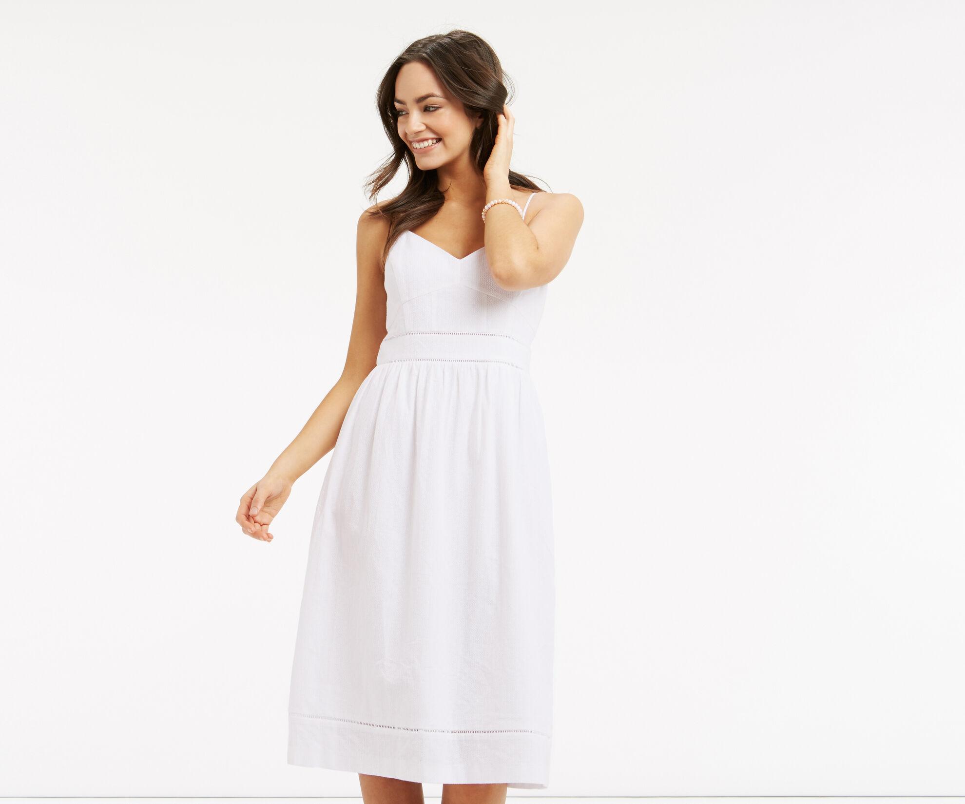 Oasis, Broderie Midi Dress White 1
