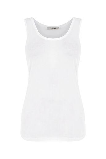 Oasis, Plain vest White 0