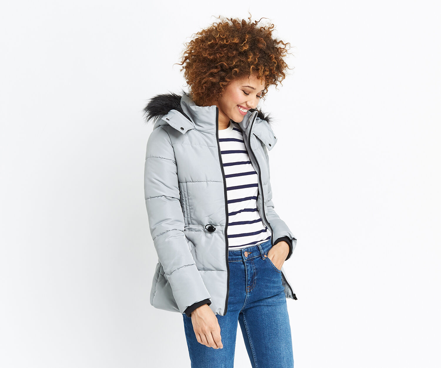 Oasis, SPORTY PADDED JACKET Silver 1