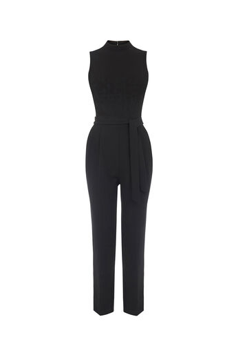 Oasis, JULIA JUMPSUIT Black 0
