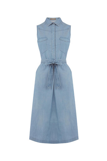 Oasis, Denim shirt dress Denim 0