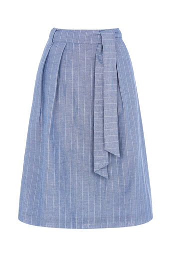 Oasis, STRIPE MIDI SKIRT Multi 0