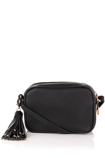 Oasis, WILLOW MINI TASSEL BAG Black 0