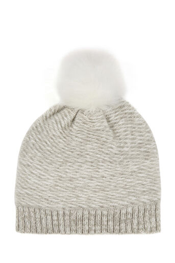 Oasis, KNITTED BOBBLE HAT Pale Grey 0