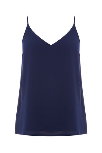 Oasis, V Neck Cami Navy 0