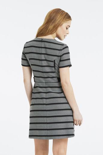 Oasis, Petite Stripe Shift Dress Black and White 3