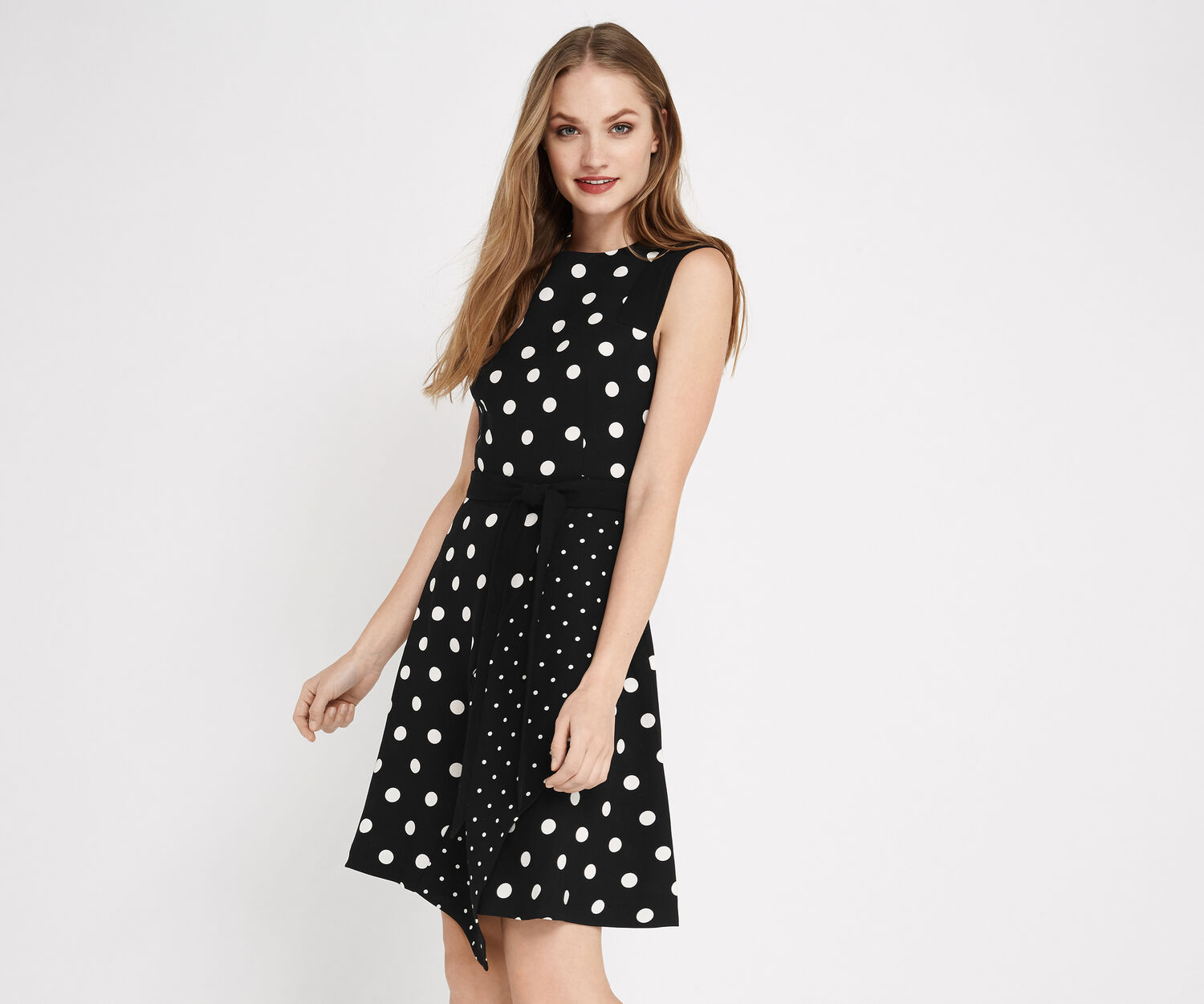 Oasis, SPOT AND STRIPE DRESS Multi 1