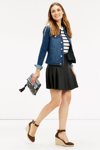 Oasis, FAUX LEATHER SKIRT Black 2