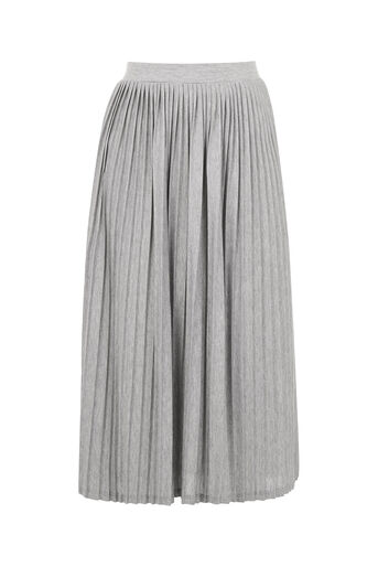 Oasis, Pleated Skirt Pale Grey 0