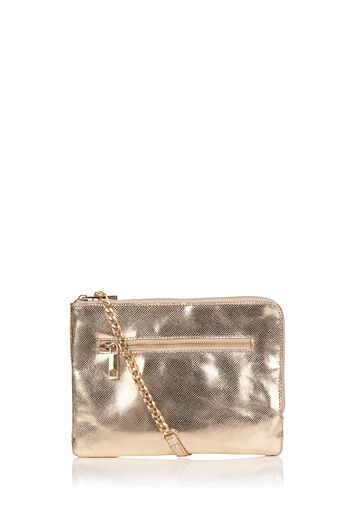 Oasis, LEATHER BONNIE CLUTCH Gold 0