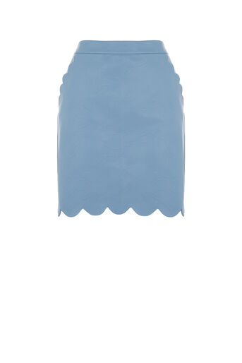 Oasis, FAUX LEATHER SCALLOP MINI Light Blue 0