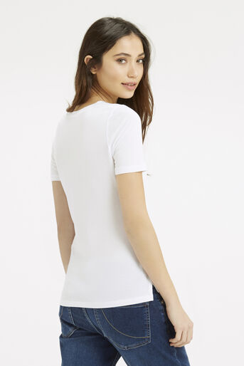 Oasis, The Perfect Step Hem T-Shirt White 3