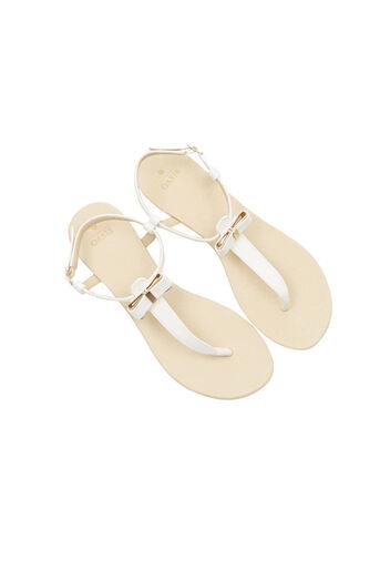 Oasis, Bow Sandal White 2