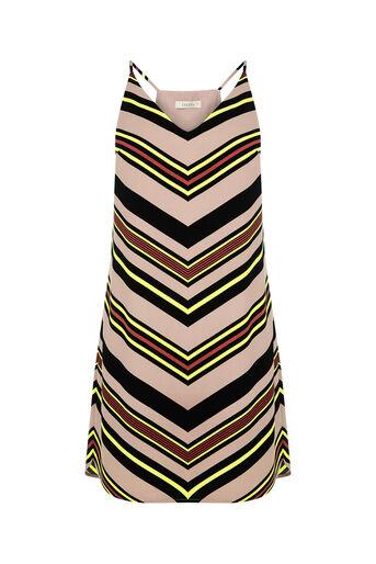 Oasis, Chevron Stripe Cami Dress Multi 0