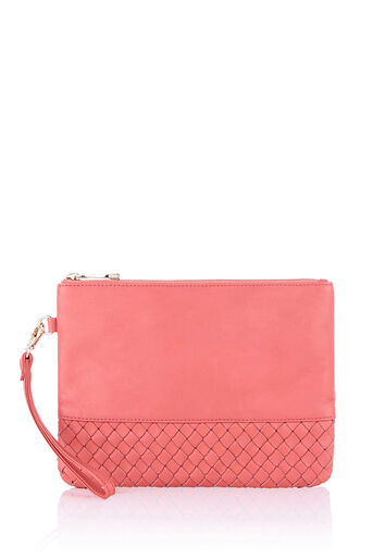 Oasis, LEATHER PATCHED WEAVE FLOSSY Coral 0