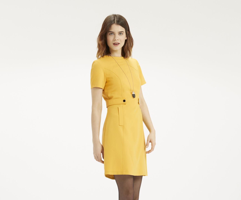 Oasis, Plain Shift Dress Ochre 1