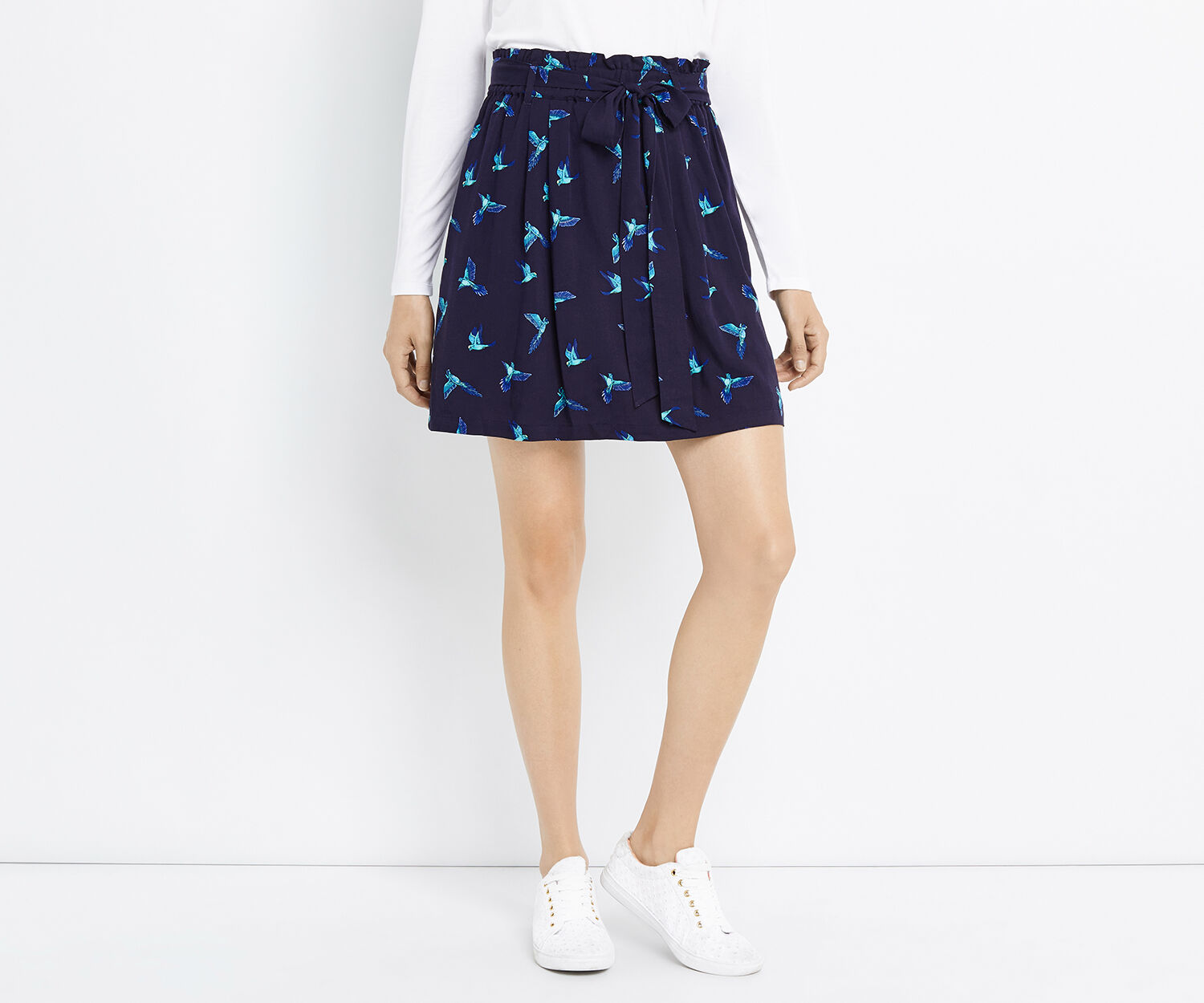 Oasis, ZSL PARROT SKIRT Multi Blue 1