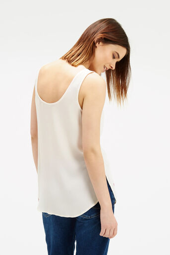 Oasis, Floral Embroidered Vest Off White 3