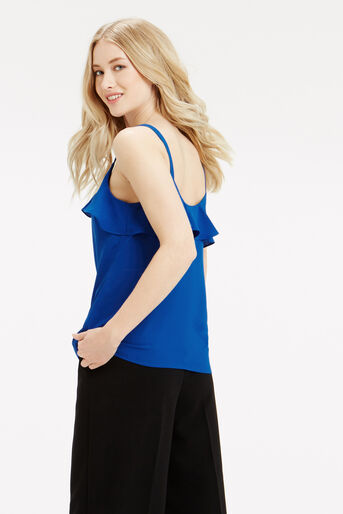 Oasis, Frill Front Cami Mid Blue 3