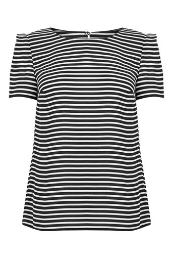 Oasis, DAYTIME STRIPE TEE Black and White 0