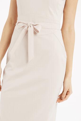 Oasis, Bonnie Workwear Dress Mid Neutral 4