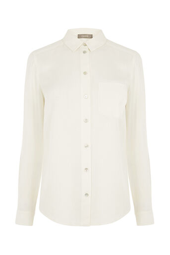 Oasis, VISCOSE TWILL SHIRT White 0