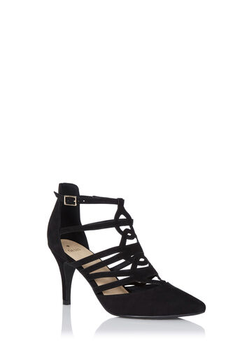 Oasis, CAITLIN CUT OUT COURT Black 0