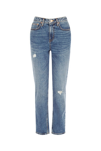 Oasis, SCENE-STEALING STRAIGHT JEANS Denim 0