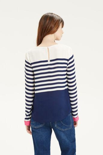 Oasis, Stripe Colour Block Top Multi 3