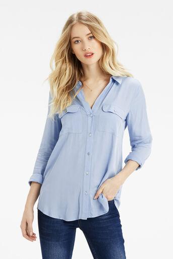 Oasis, Weekend Viscose Shirt Mid Blue 1