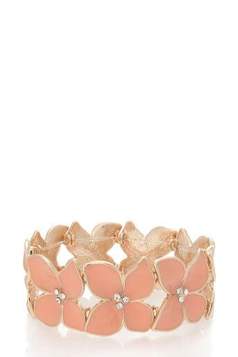 Oasis, Stretch flower bracelet Coral 0