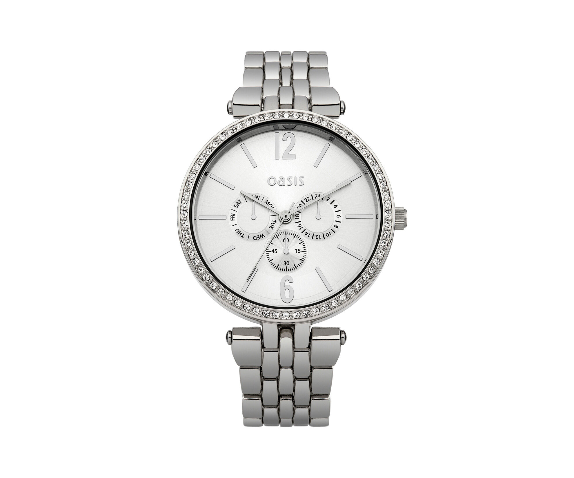 Oasis, Sliver Tone Dial Watch Silver 0