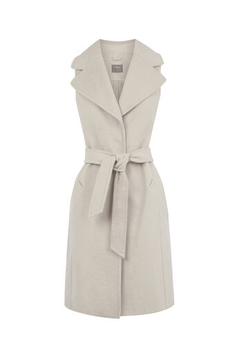 Oasis, SLEEVELESS JACKET Off White 0