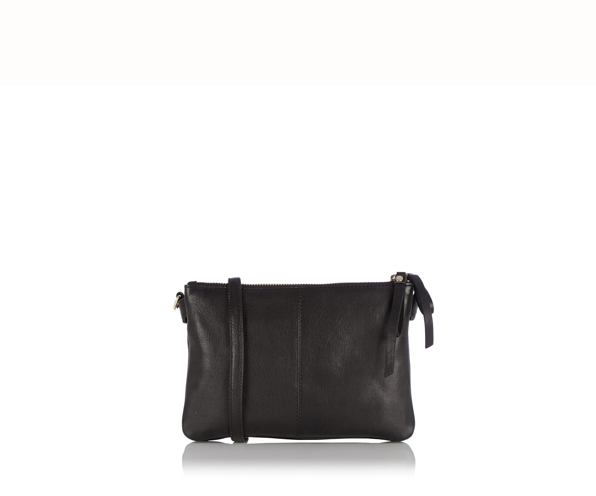 Oasis, Leather Double X Body Bag Black 0