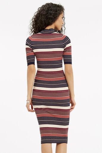 Oasis, Stripe sparkle midi dress Multi 3