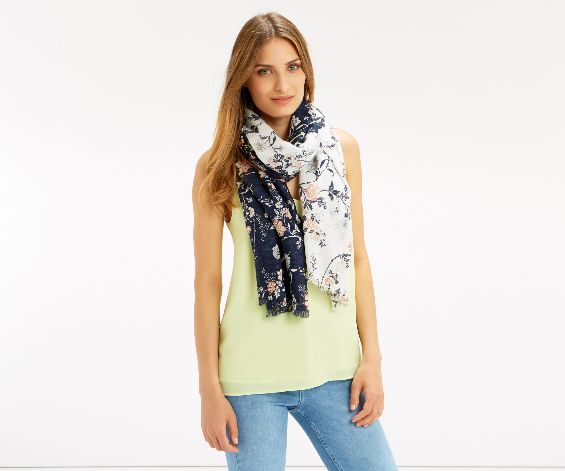 Oasis, ORIENTAL PATCHED SCARF Multi 1