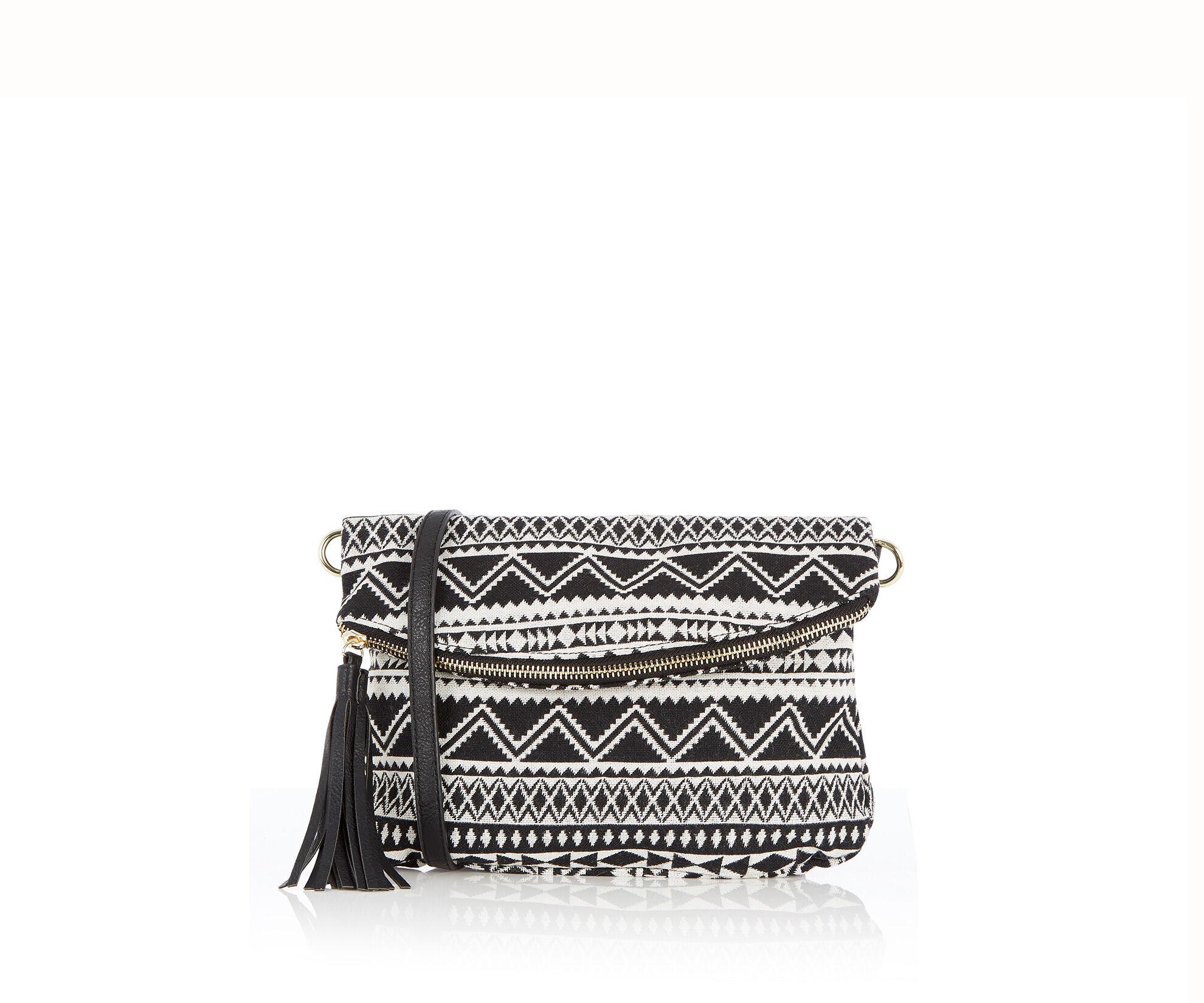 Oasis, Aztec Cross-Body Bag Multi Black 0