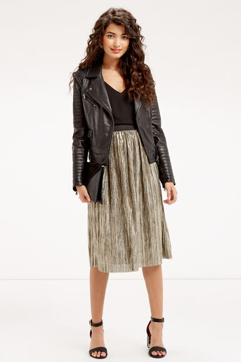 Oasis, METALLIC SKIRT Gold 2