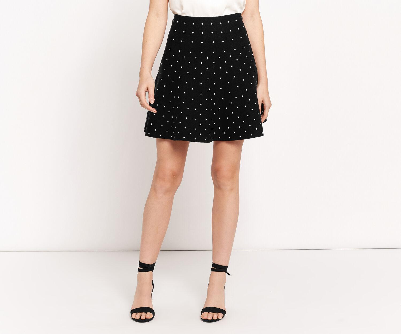 Oasis, Flippy spot skirt Multi Black 1