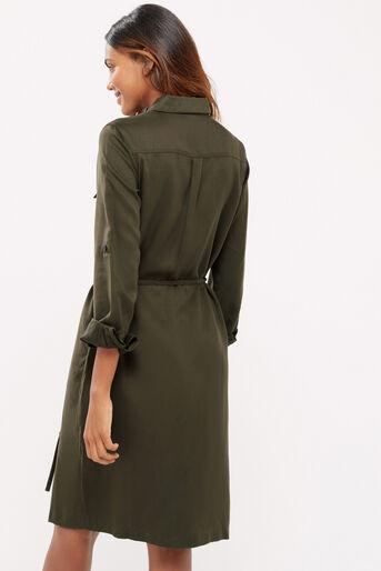 Oasis, Blossom emb utility dress Khaki 3