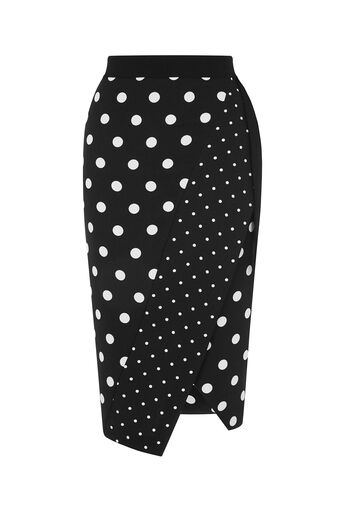 Oasis, SPOT PRINT WRAP SKIRT Multi 0