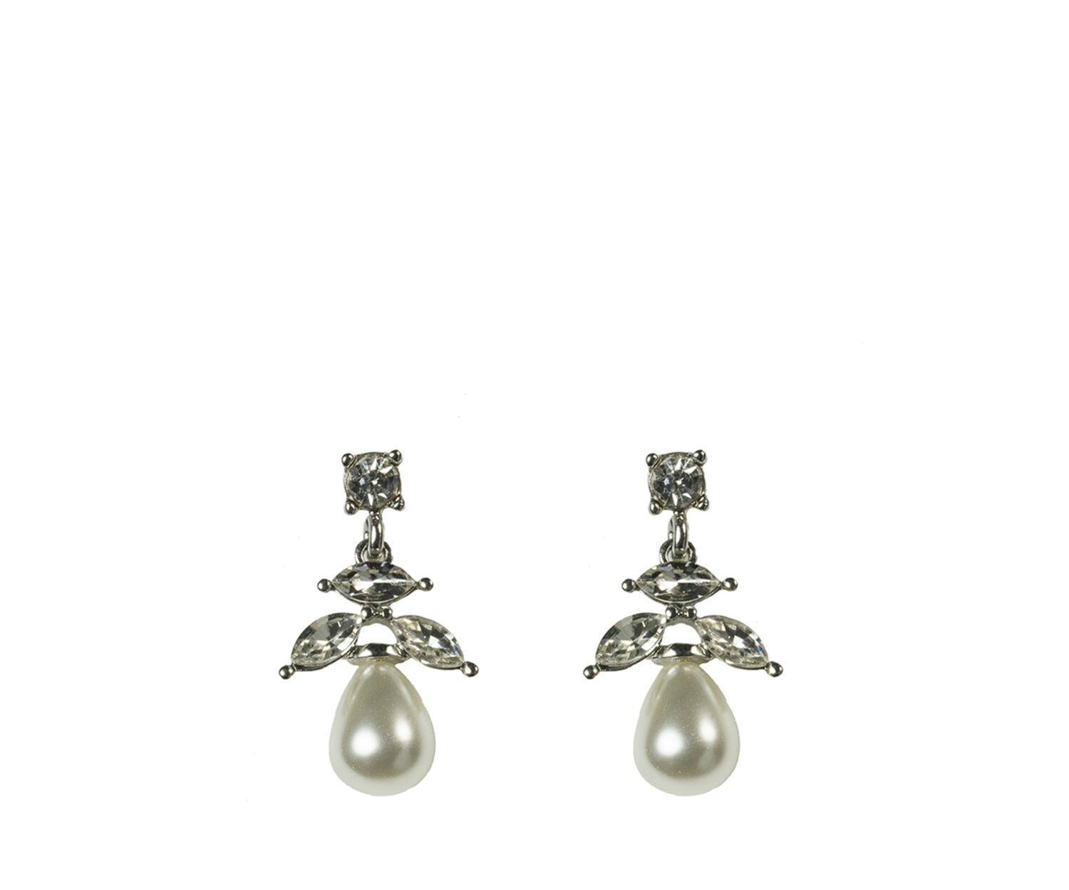 Oasis, PEARLY DROP EARRINGS Silver 1