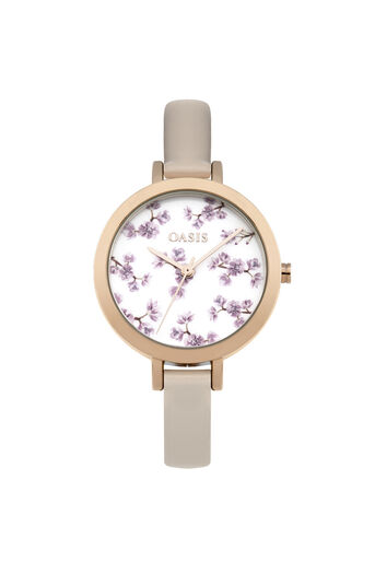 Oasis, Floral Printed Watch Light Neutral 0