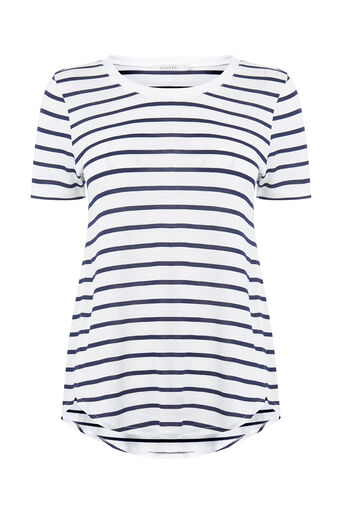 Oasis, STRIPE PERFECT TEE Multi Blue 0