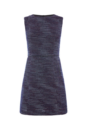 Oasis, MERLOT TWEED SHIFT DRESS Multi 0