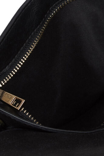 Oasis, Charlie Suede Patched Clutch Black 3