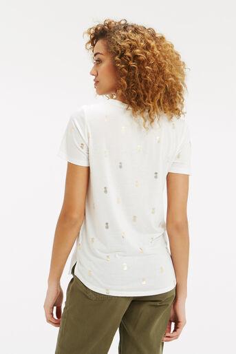 Oasis, Pineapple Foil T-Shirt White 3