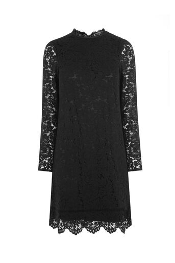 Oasis, SCALLOP LACE DRESS Black 0